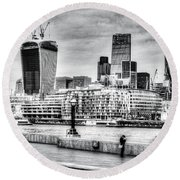 City Of London Round Beach Towel