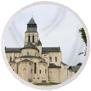 Cloister Fontevraud -  France Round Beach Towel