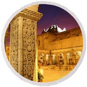 Cloisters At Sunset Arequipa Round Beach Towel