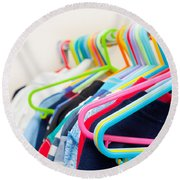 Clothes Hangers Round Beach Towel