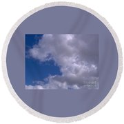 Clouds Above Round Beach Towel