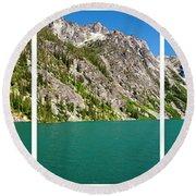 Colchuck Lake, Alpine Lakes Wilderness Round Beach Towel