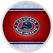 Columbus Blue Jackets Round Beach Towel