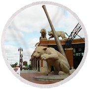 Comerica Park - Detroit Tigers Round Beach Towel