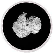 Comet Churyumov-gerasimenko Round Beach Towel