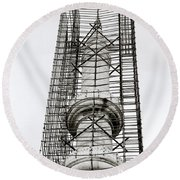 Construction Round Beach Towel