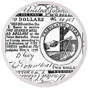 Continental Banknote, 1776 Round Beach Towel