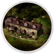 Country House In Bakewell Town Peak District - England Round Beach Towel