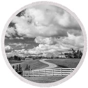Country Living Bw Round Beach Towel