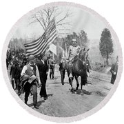 Coxey's Army, 1894 Round Beach Towel
