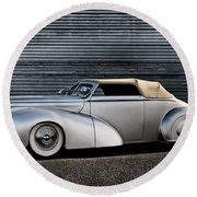 Custom Ford Coupe Round Beach Towel
