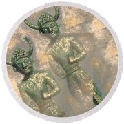 Cyprus Gods Of Trade. Round Beach Towel