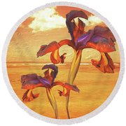 Dancing In The Sunset Round Beach Towel