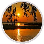 Dancing Light Round Beach Towel by Frozen in Time Fine Art Photography