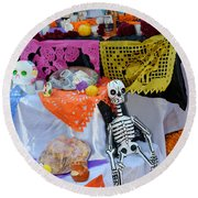 Day Of The Dead Altar, Mexico Round Beach Towel