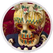 Day Of The Dead Remembrance, Mexico Round Beach Towel