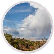 Desert Clouds Round Beach Towel