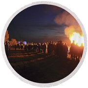Diamond Jubilee Beacon On Epsom Downs Surrey Uk Round Beach Towel