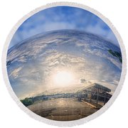Distorted Reflection Round Beach Towel