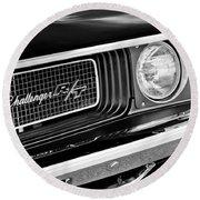 Dodge Challenger Rt Grille Emblem Round Beach Towel