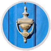Door Knocker Round Beach Towel by Tom Gowanlock