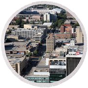 Downtown Lincoln Round Beach Towel