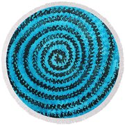 Dreamcatcher Original Painting Round Beach Towel