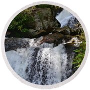 Dukes Creek Falls Round Beach Towel