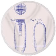 Electric Razor Patent 1939 Round Beach Towel