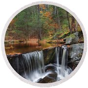 Enders Falls Round Beach Towel