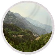 Engineer Pass In Colorado  Round Beach Towel