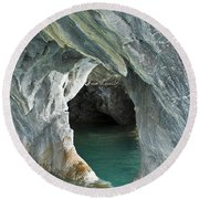 Eroded Marble Shoreline Round Beach Towel