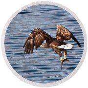 European Fishing Sea Eagle 4 Round Beach Towel