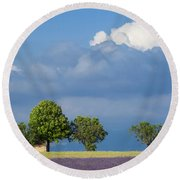 Evening In Provence Round Beach Towel