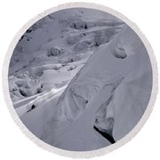 Extreme Skier Going Fast In Beautiful Round Beach Towel