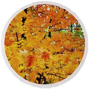 Fall Colors 2014-3 Round Beach Towel