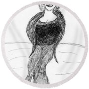 Fashion Style Two Round Beach Towel