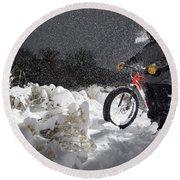 Fat Tire Bike Round Beach Towel