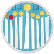 Festival Of Lights Round Beach Towel