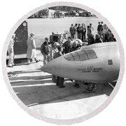 First Supersonic Aircraft, Bell X-1 Round Beach Towel
