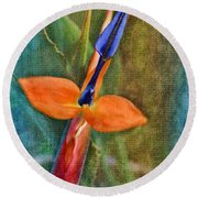 Floral Contentment Round Beach Towel