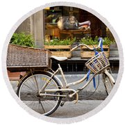 Florence Bicycle  Round Beach Towel