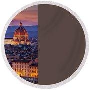 Florence Duomo Round Beach Towel