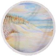 Florida Skies Round Beach Towel
