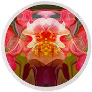 Flower Child Round Beach Towel