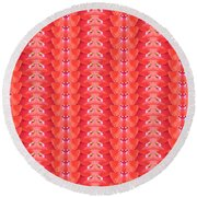 Flower Petal Petal Art From Cherryhill Nj America Micro Patterns Red Color Tones Light Shades Round Beach Towel