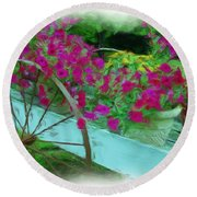 Flower Pot 2 Round Beach Towel