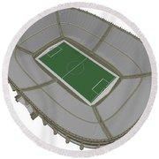 Football Soccer Stadium Round Beach Towel
