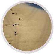 Footprints Round Beach Towel