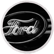 Ford Neon Sign Round Beach Towel